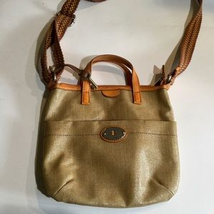 Fossil Per-Key coated canvas crossbody bag
